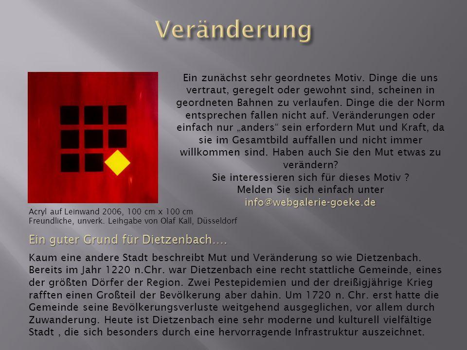 Veränderung Ein guter Grund für Dietzenbach….