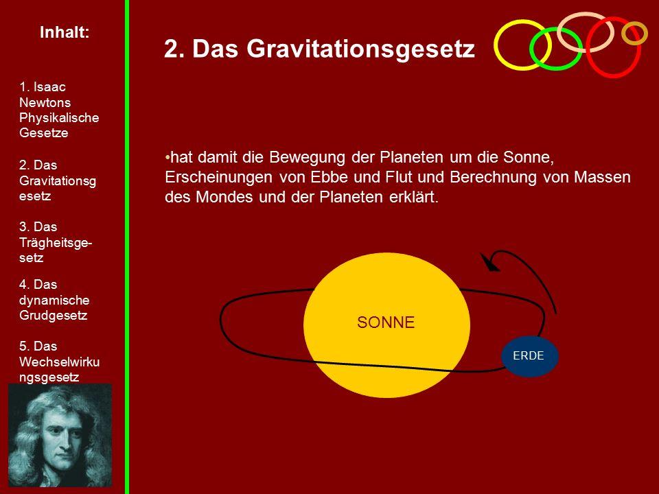 2. Das Gravitationsgesetz