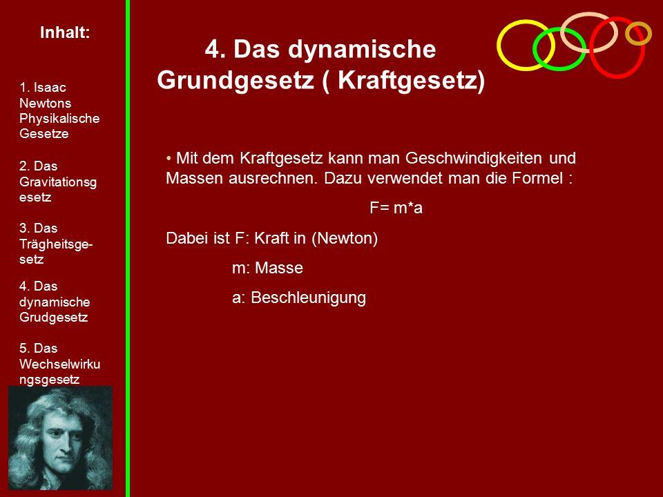 4. Das dynamische Grundgesetz ( Kraftgesetz)