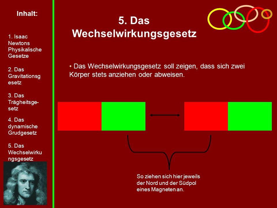 5. Das Wechselwirkungsgesetz