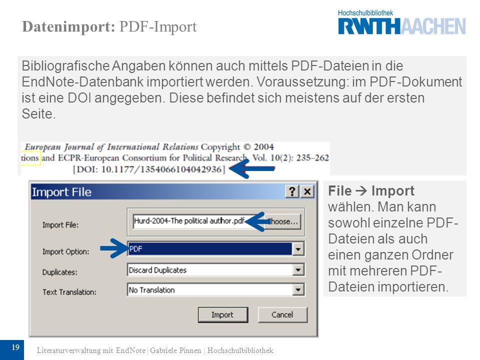 Datenimport: PDF-Import