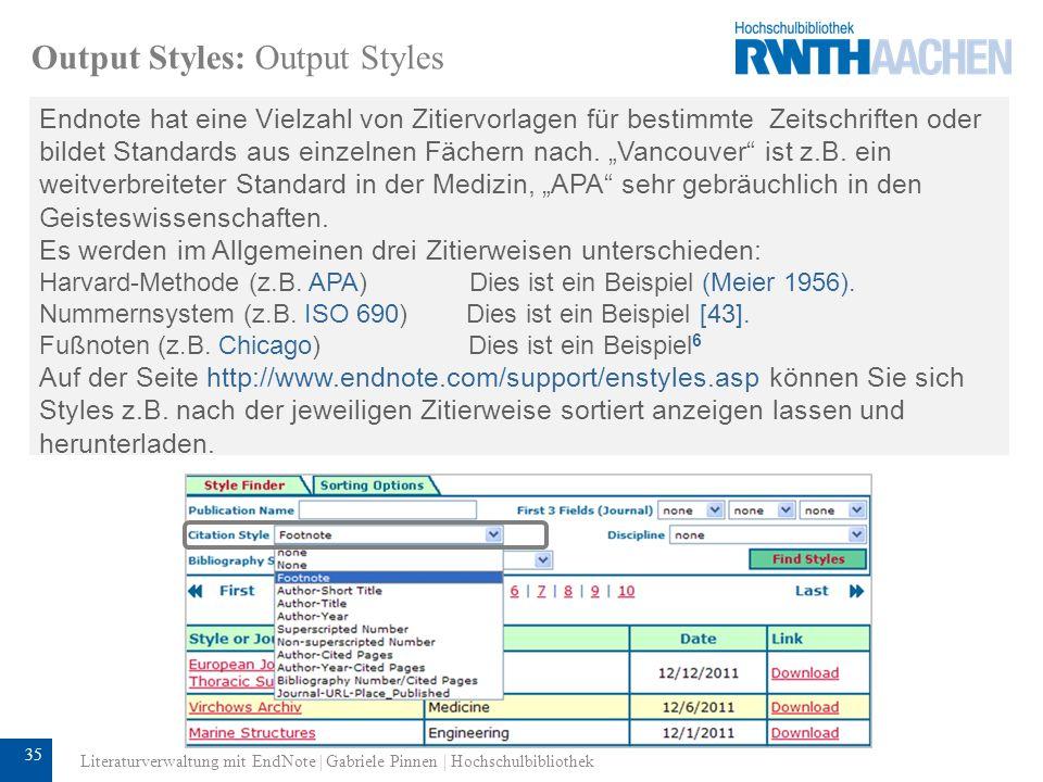 Output Styles: Output Styles