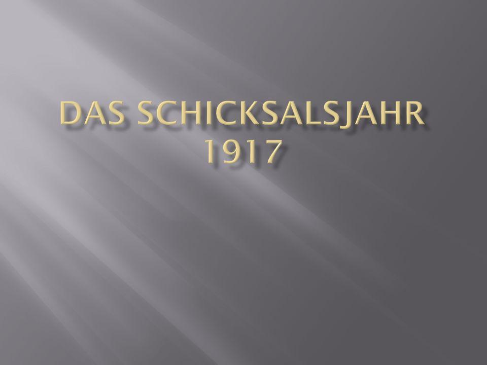 Das schicksalsjahr 1917