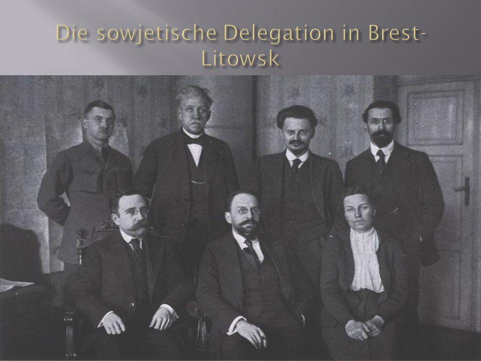 Die sowjetische Delegation in Brest-Litowsk