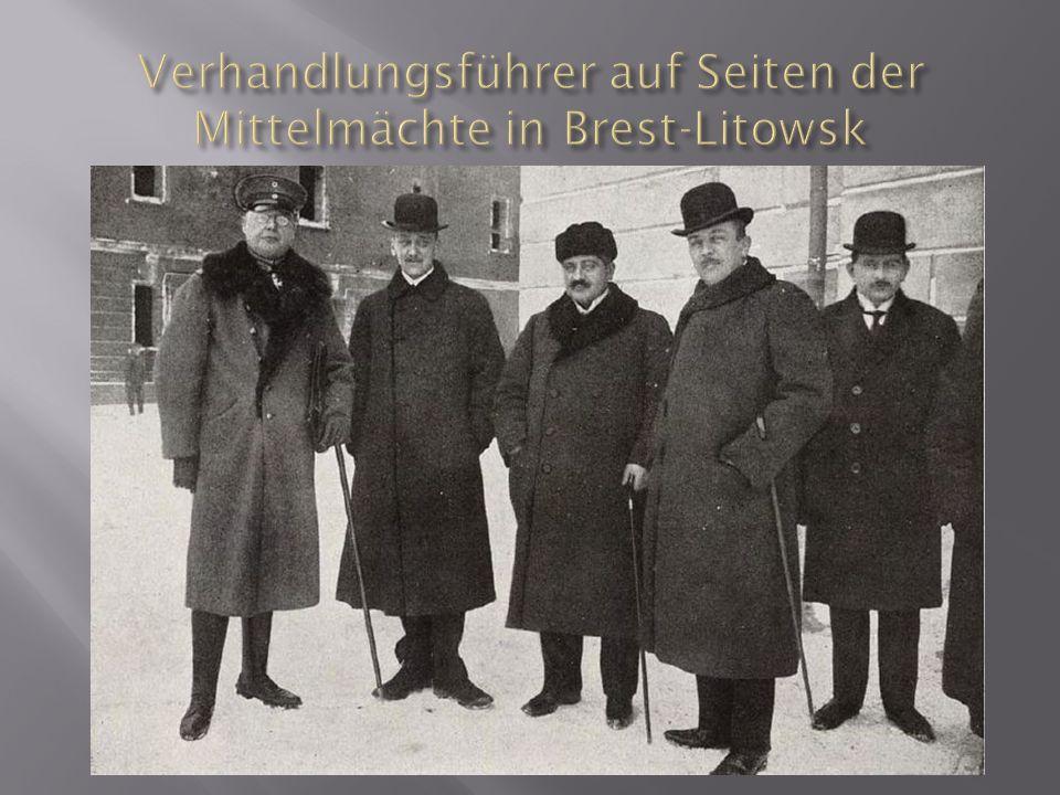 Verhandlungsführer auf Seiten der Mittelmächte in Brest-Litowsk