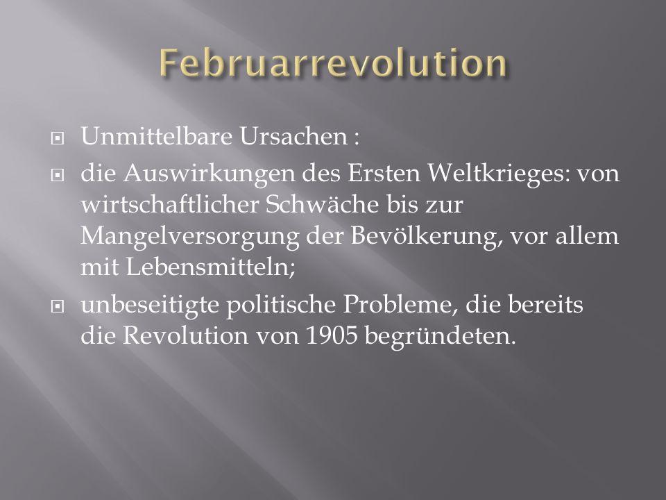 Februarrevolution Unmittelbare Ursachen :