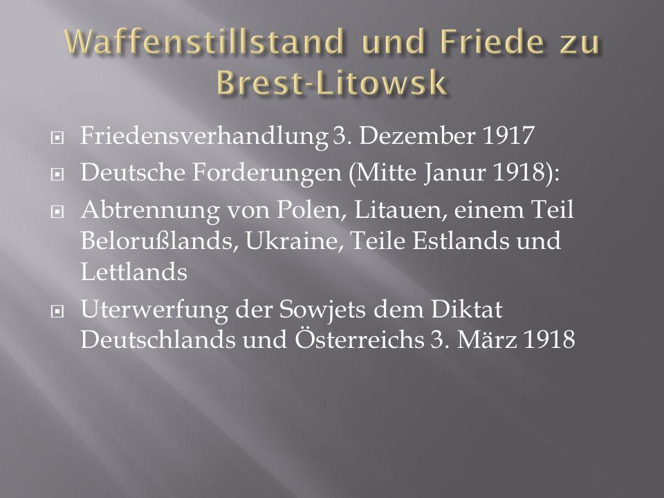 Waffenstillstand und Friede zu Brest-Litowsk