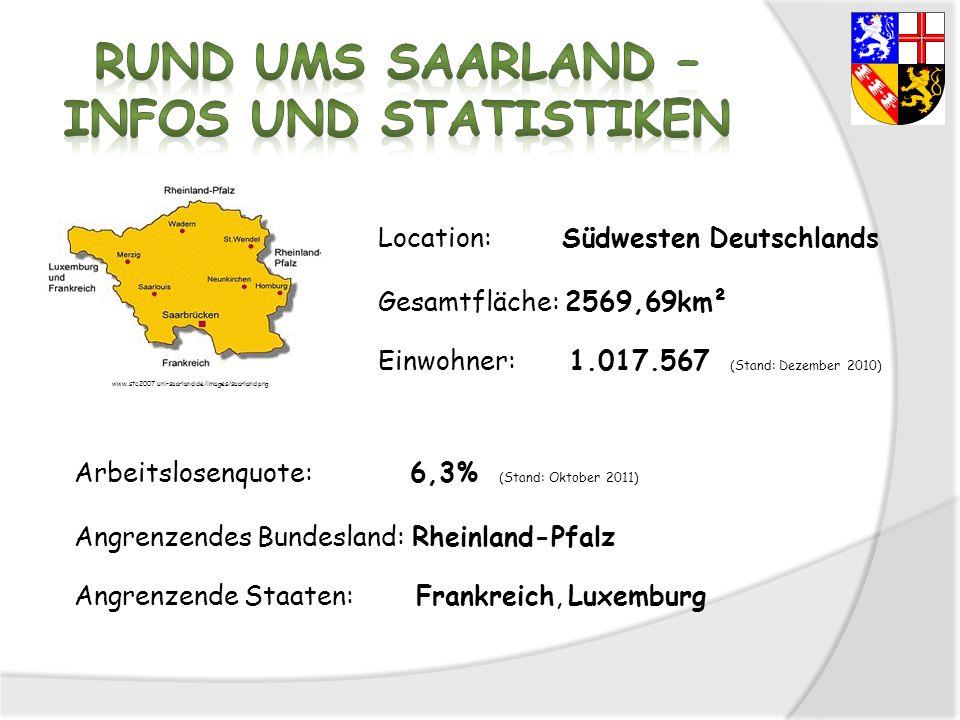 Rund ums Saarland – Infos und Statistiken