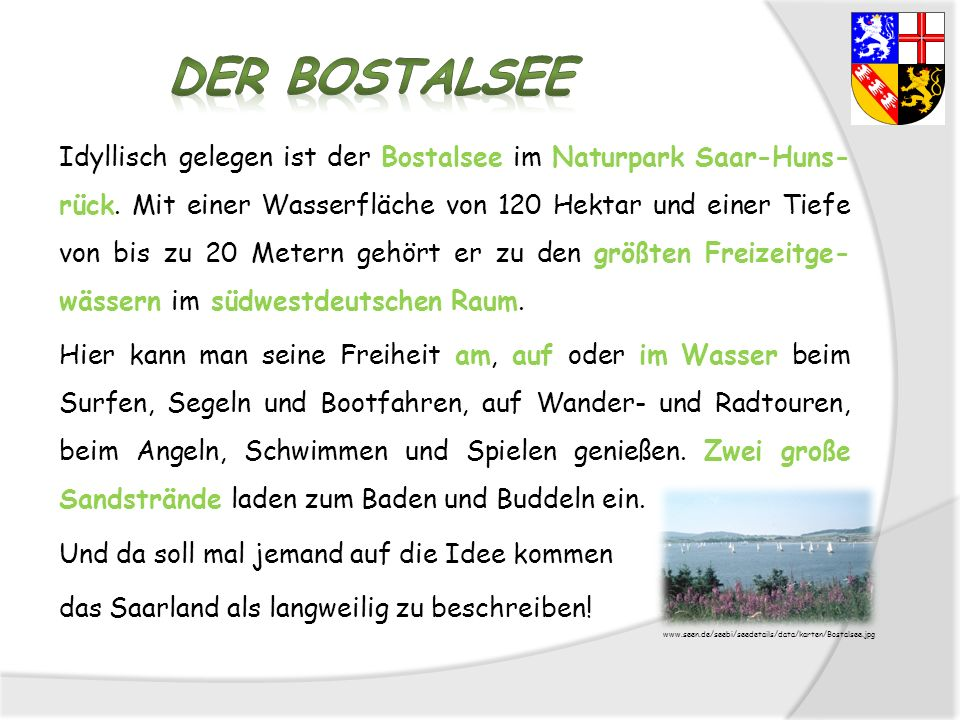 Der Bostalsee