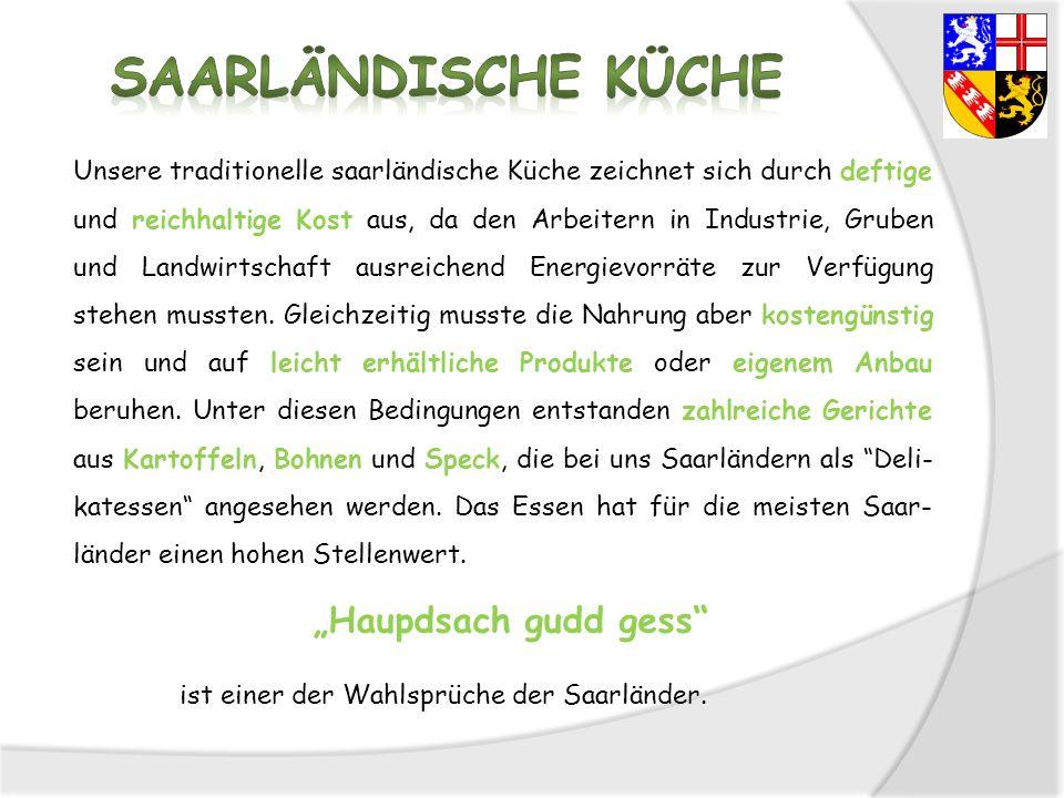 "Saarländische Küche ""Haupdsach gudd gess"