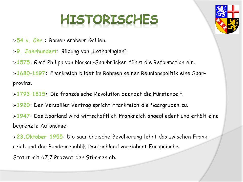 Historisches 54 v. Chr.: Römer erobern Gallien.
