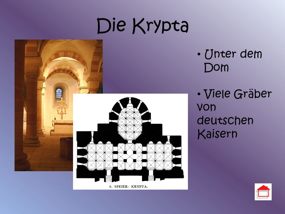 Die Krypta Unter dem Dom Viele Gräber von deutschen Kaisern