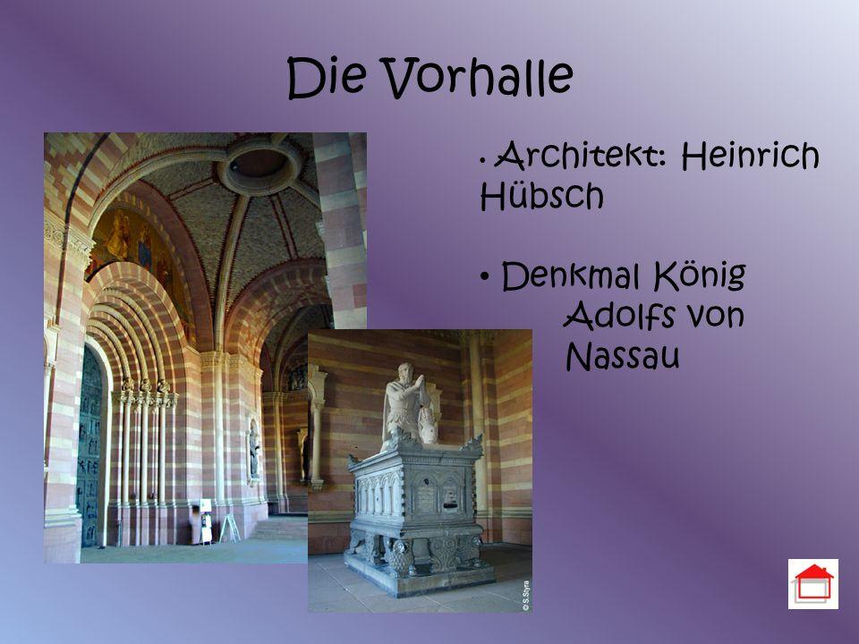 Die Vorhalle Denkmal König Adolfs von Nassau