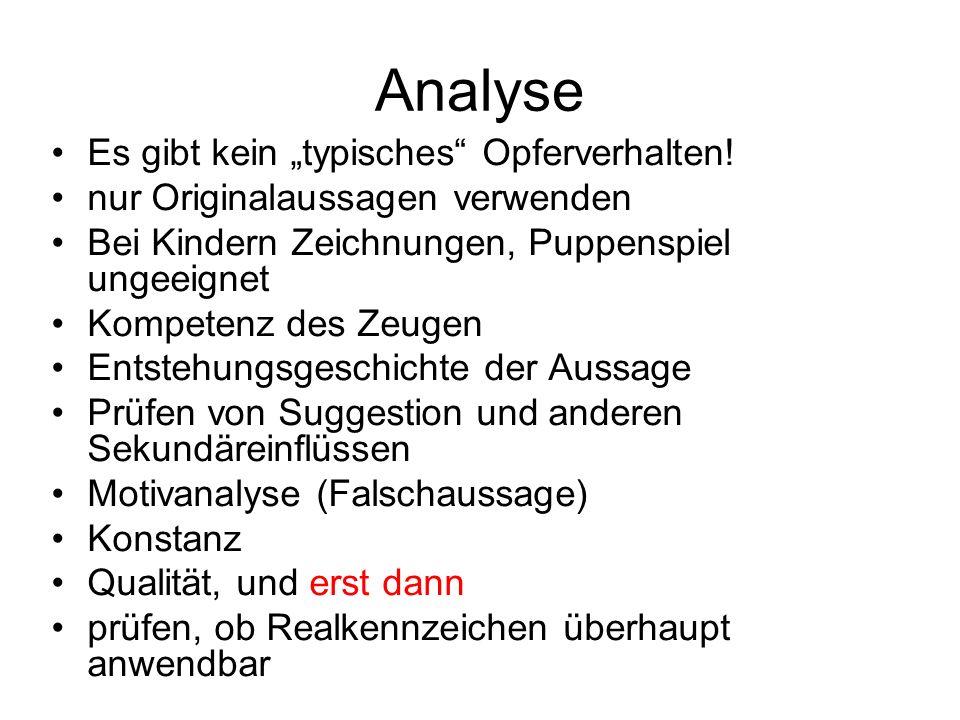 """Analyse Es gibt kein """"typisches Opferverhalten!"""
