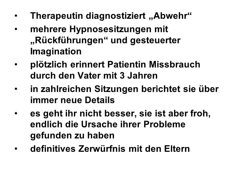 """Therapeutin diagnostiziert """"Abwehr"""