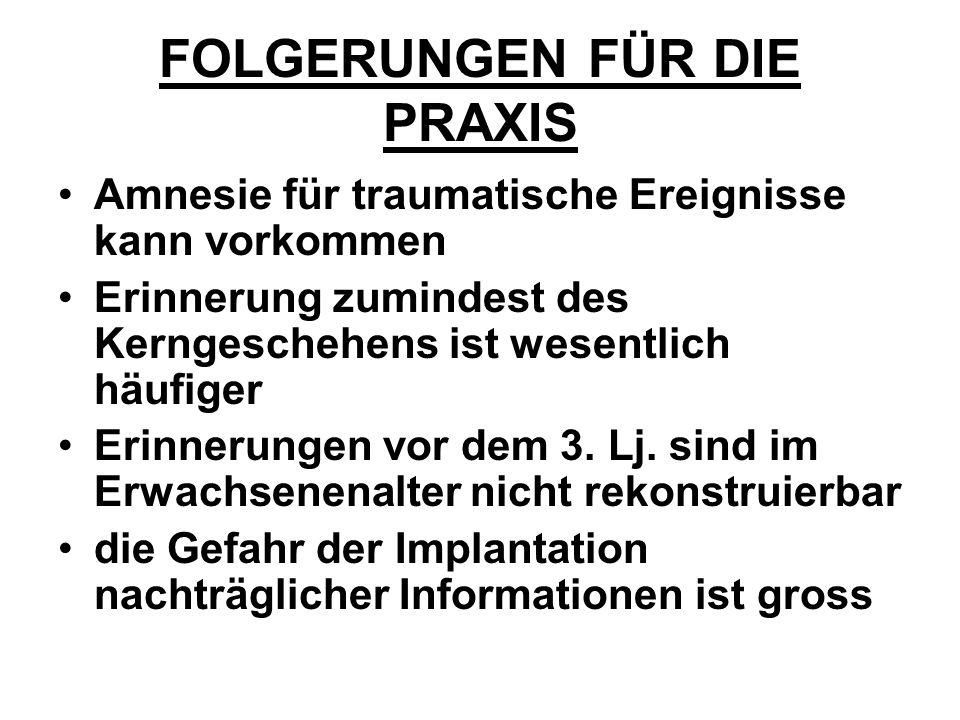 FOLGERUNGEN FÜR DIE PRAXIS