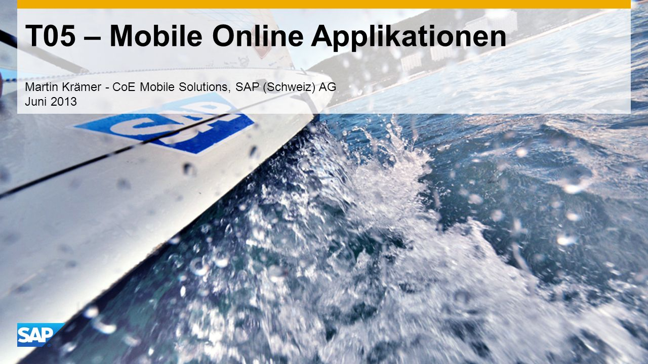 T05 – Mobile Online Applikationen