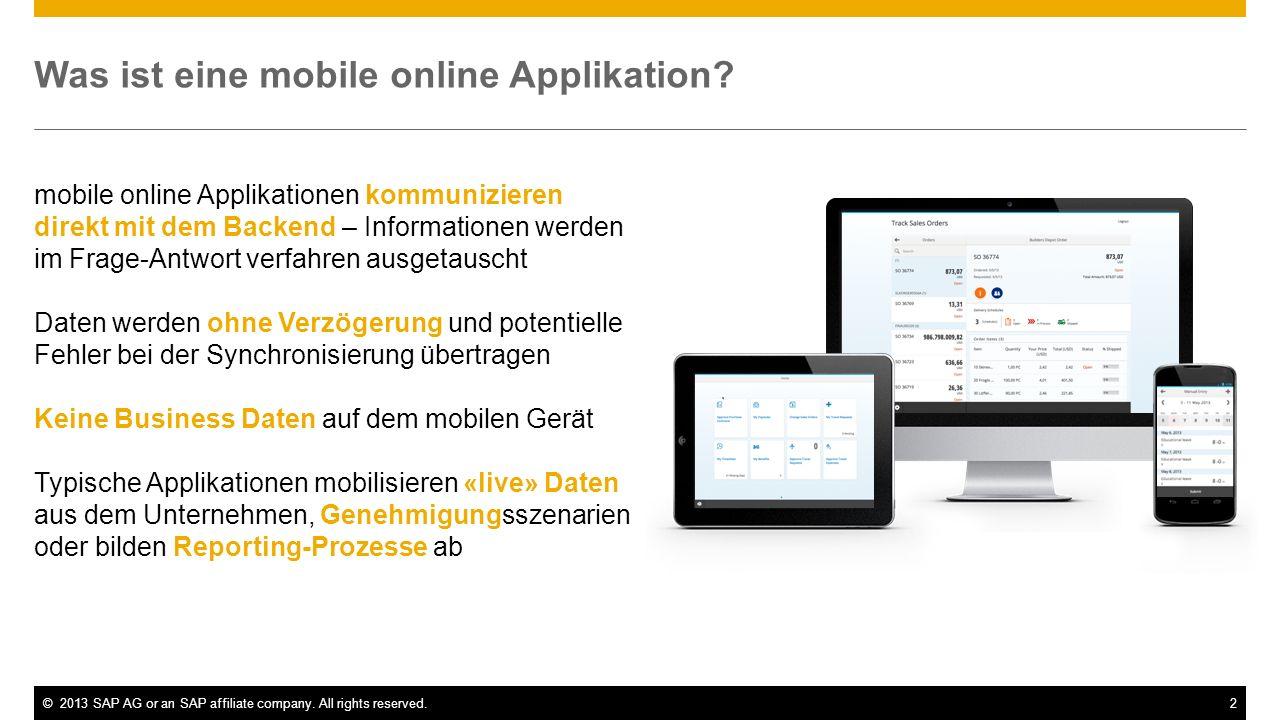 Was ist eine mobile online Applikation