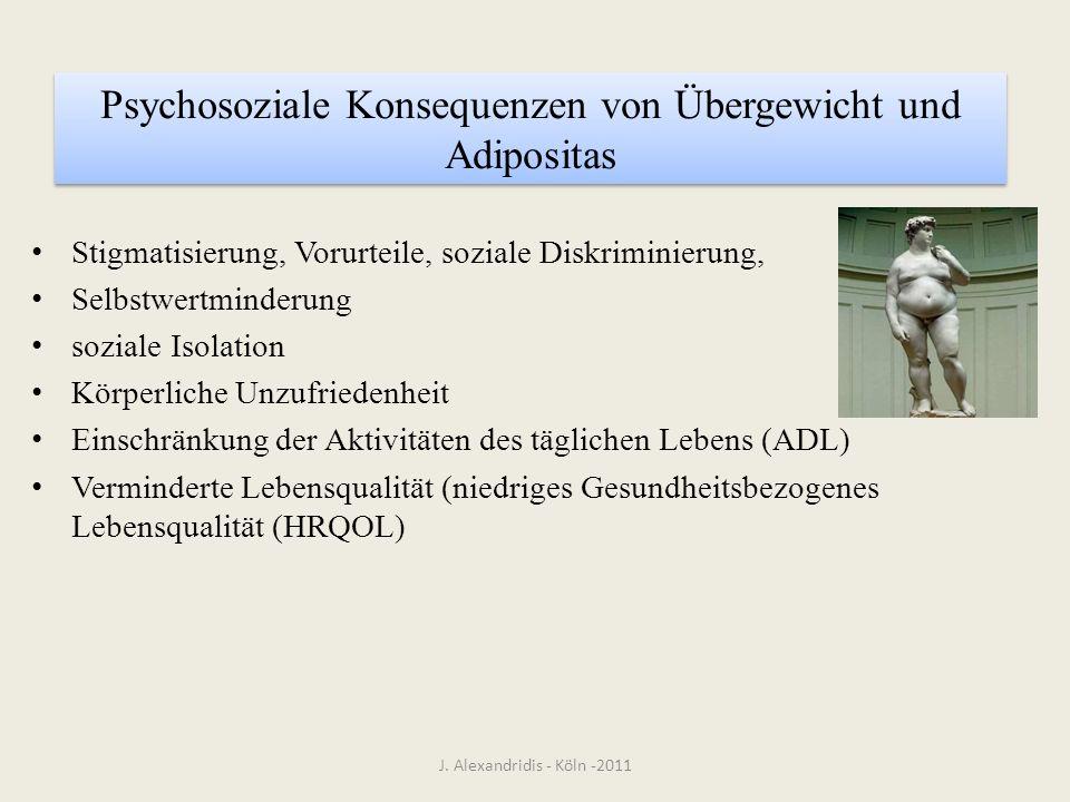 Psychosoziale Konsequenzen von Übergewicht und Adipositas