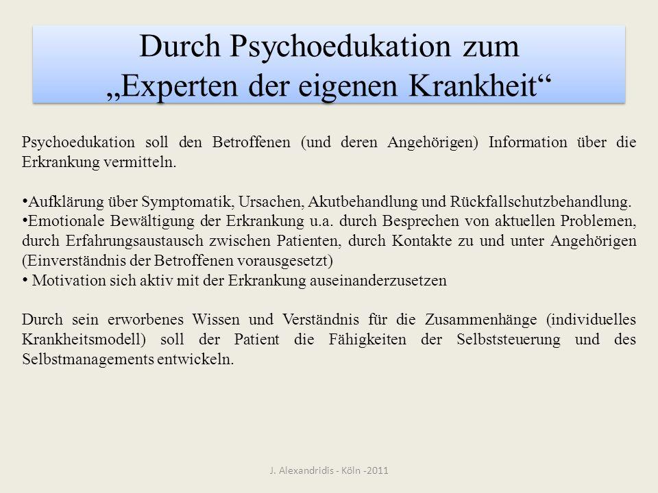 """Durch Psychoedukation zum """"Experten der eigenen Krankheit"""