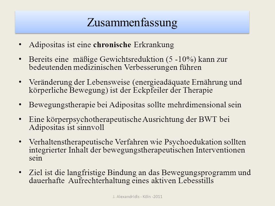 Zusammenfassung Adipositas ist eine chronische Erkrankung