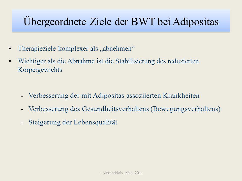 Übergeordnete Ziele der BWT bei Adipositas
