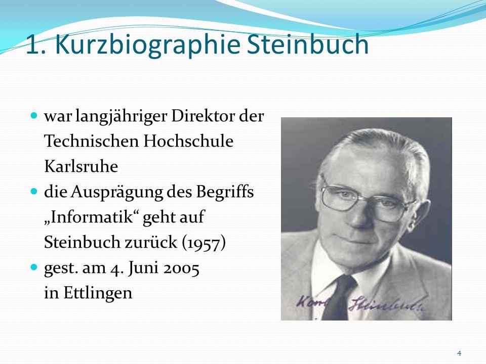 1. Kurzbiographie Steinbuch