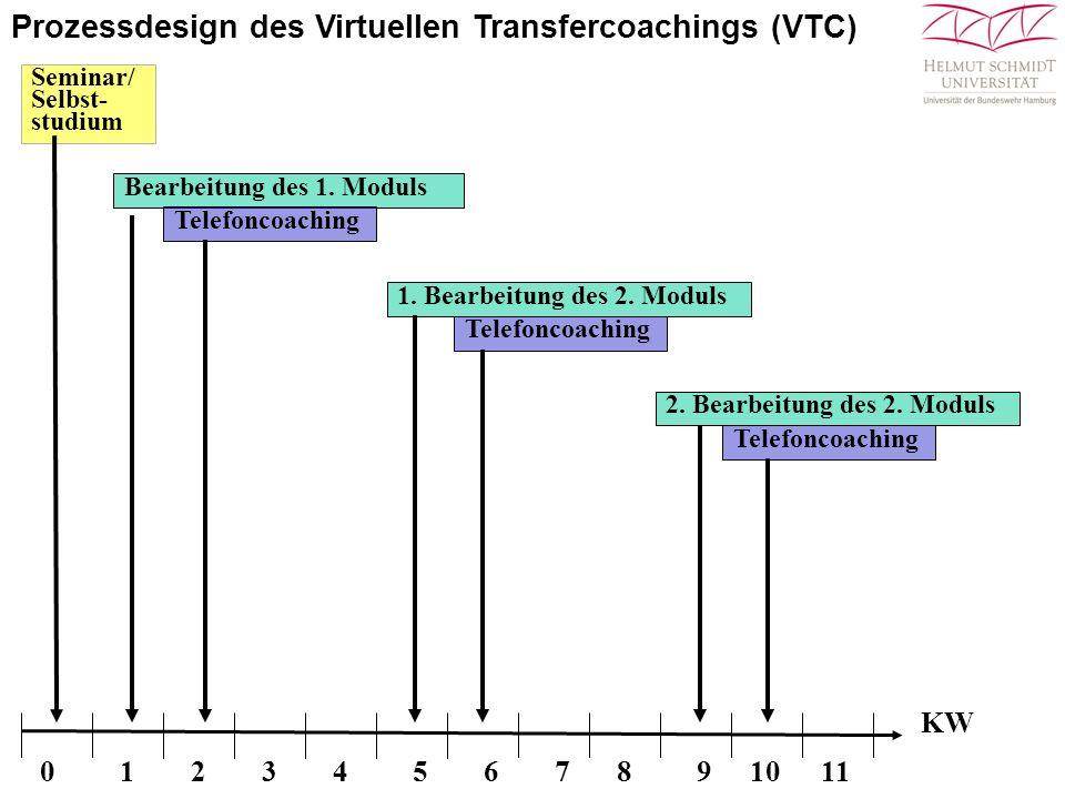 Prozessdesign des Virtuellen Transfercoachings (VTC)