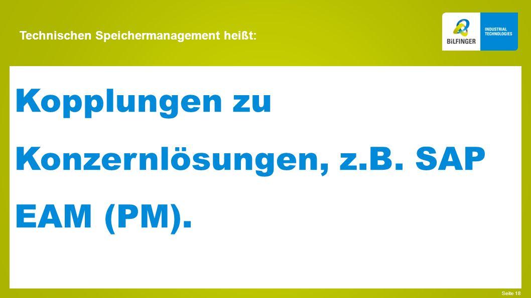 Technischen Speichermanagement heißt: