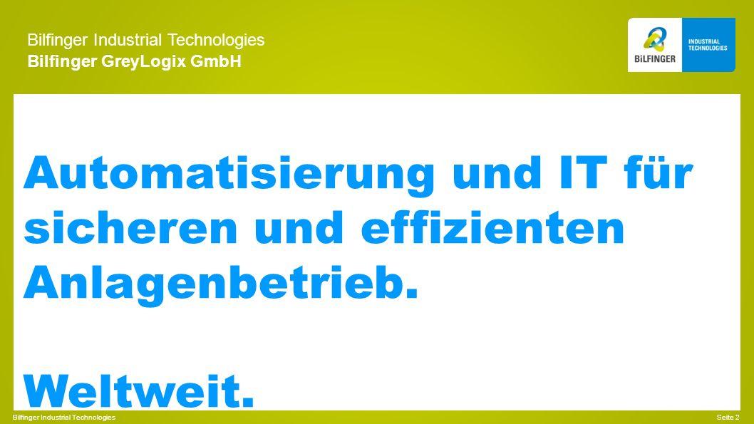 Bilfinger Industrial Technologies Bilfinger GreyLogix GmbH