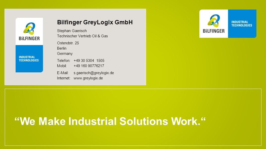 We Make Industrial Solutions Work.