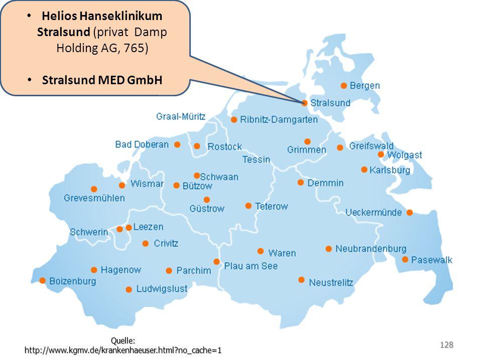 Helios Hanseklinikum Stralsund (privat Damp Holding AG, 765)