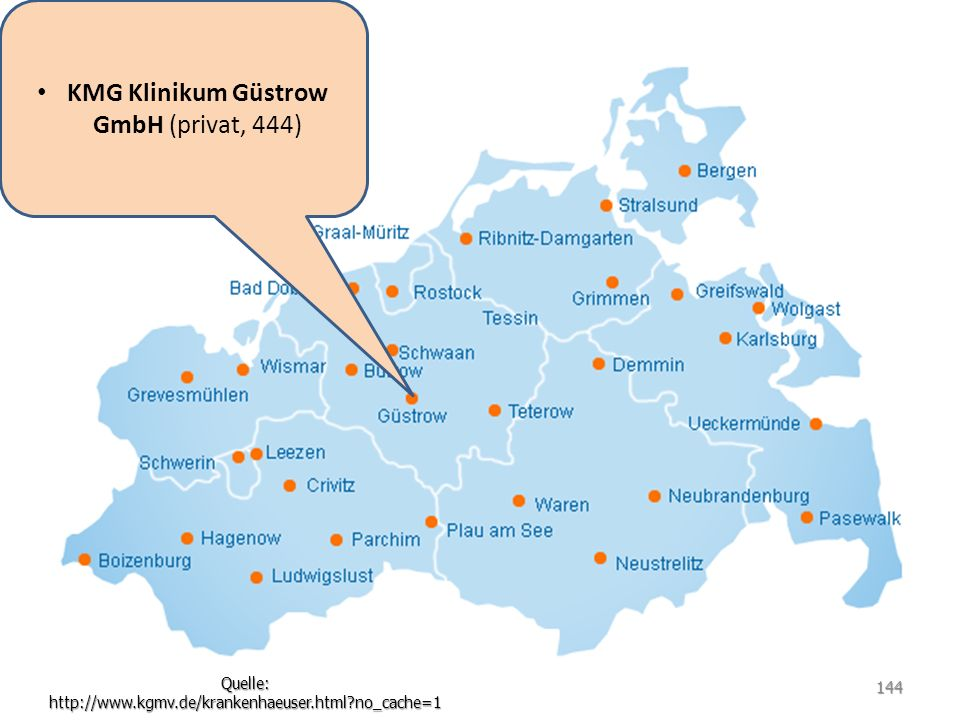 KMG Klinikum Güstrow GmbH (privat, 444)