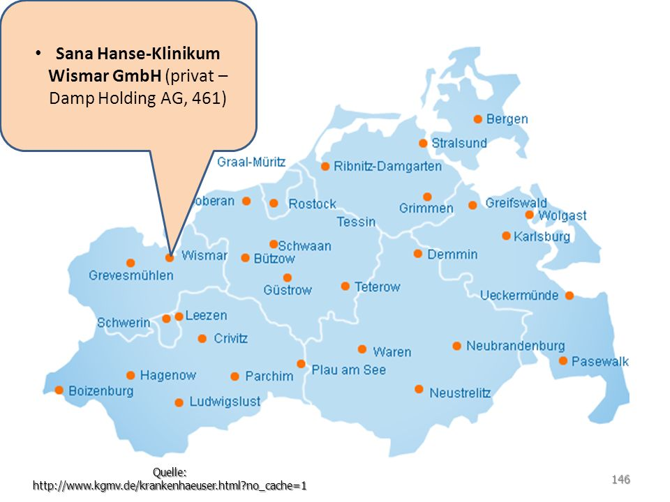 Sana Hanse-Klinikum Wismar GmbH (privat – Damp Holding AG, 461)