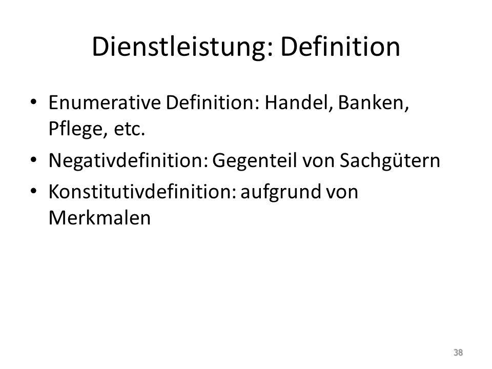 Dienstleistung: Definition
