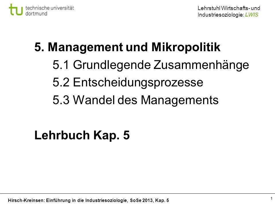 5. Management und Mikropolitik