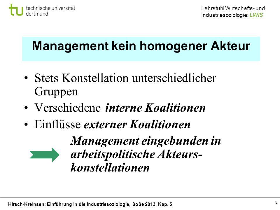 Management kein homogener Akteur