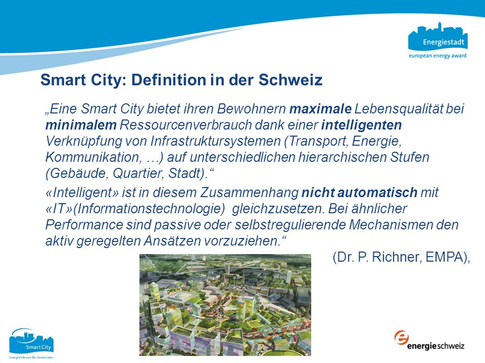 Smart City: Definition in der Schweiz
