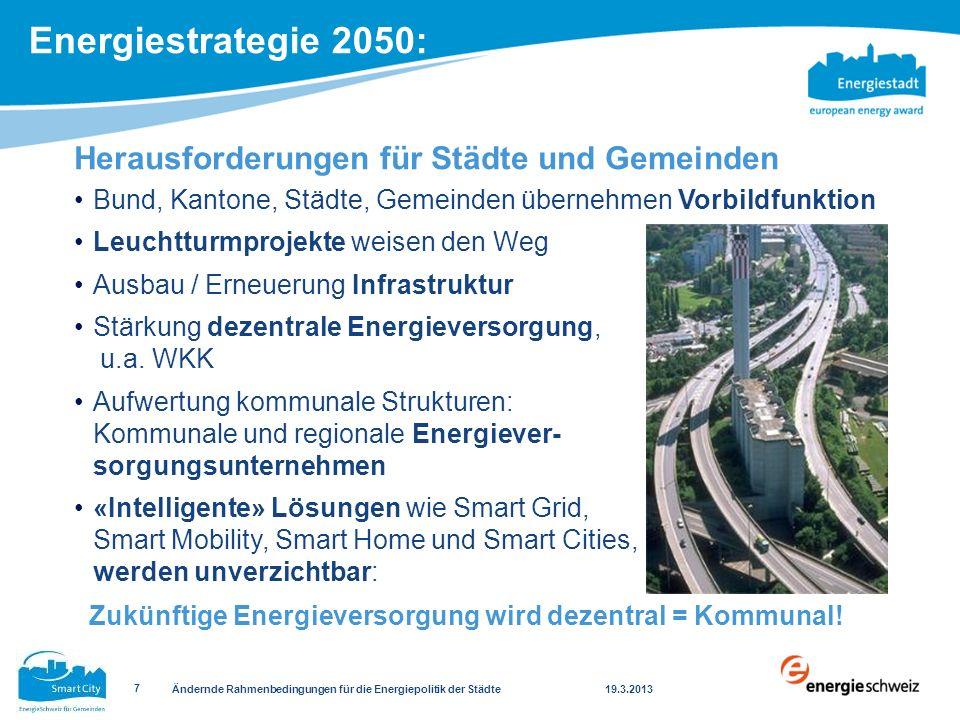 Herausforderungen für Städte und Gemeinden