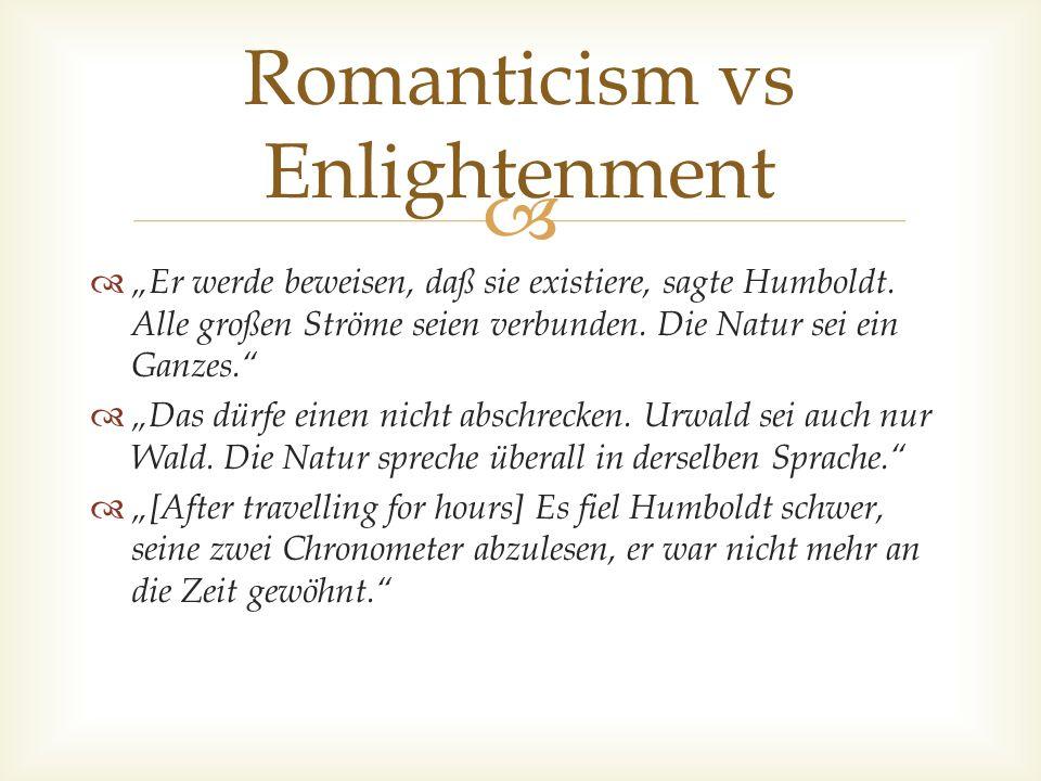 Romanticism vs Enlightenment