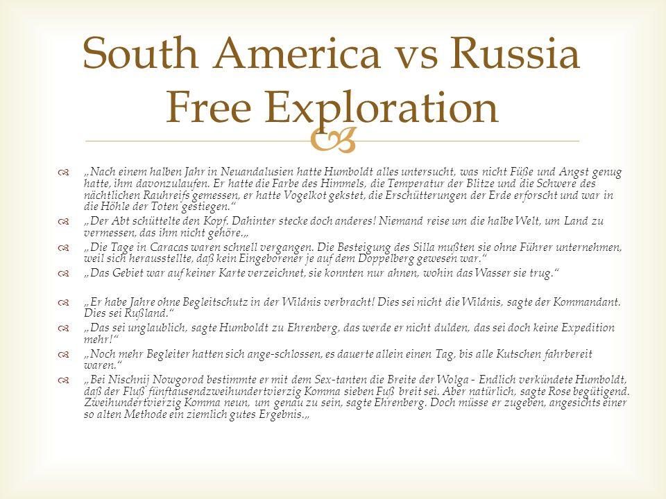 South America vs Russia Free Exploration