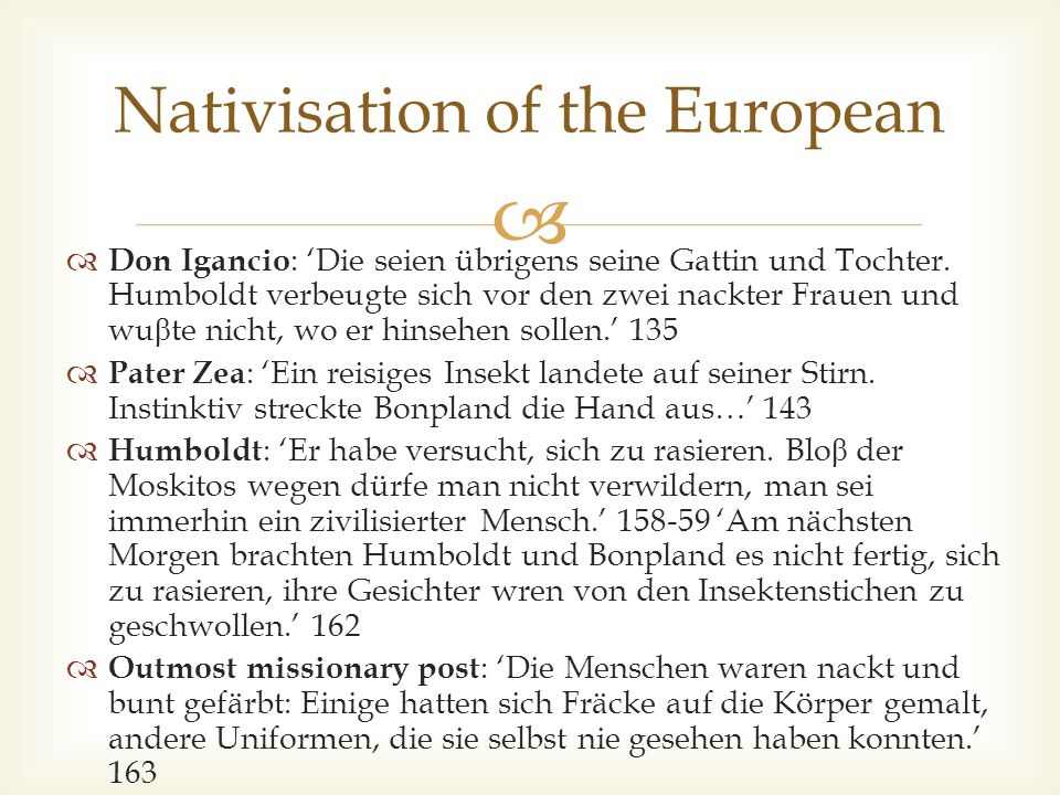 Nativisation of the European