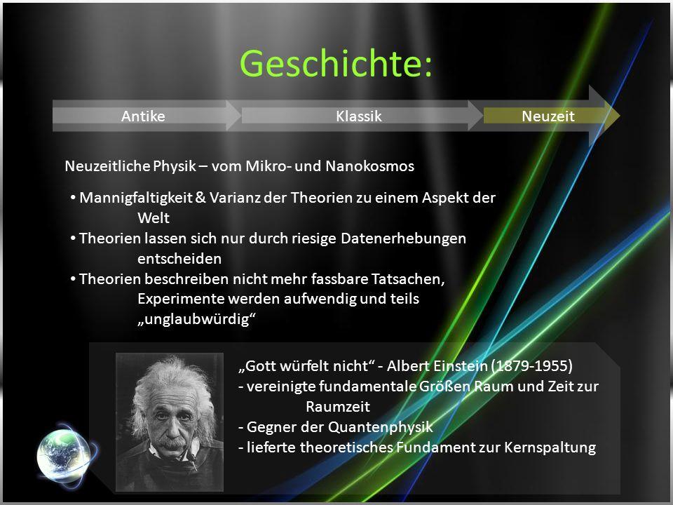 Geschichte: Antike Klassik Neuzeit