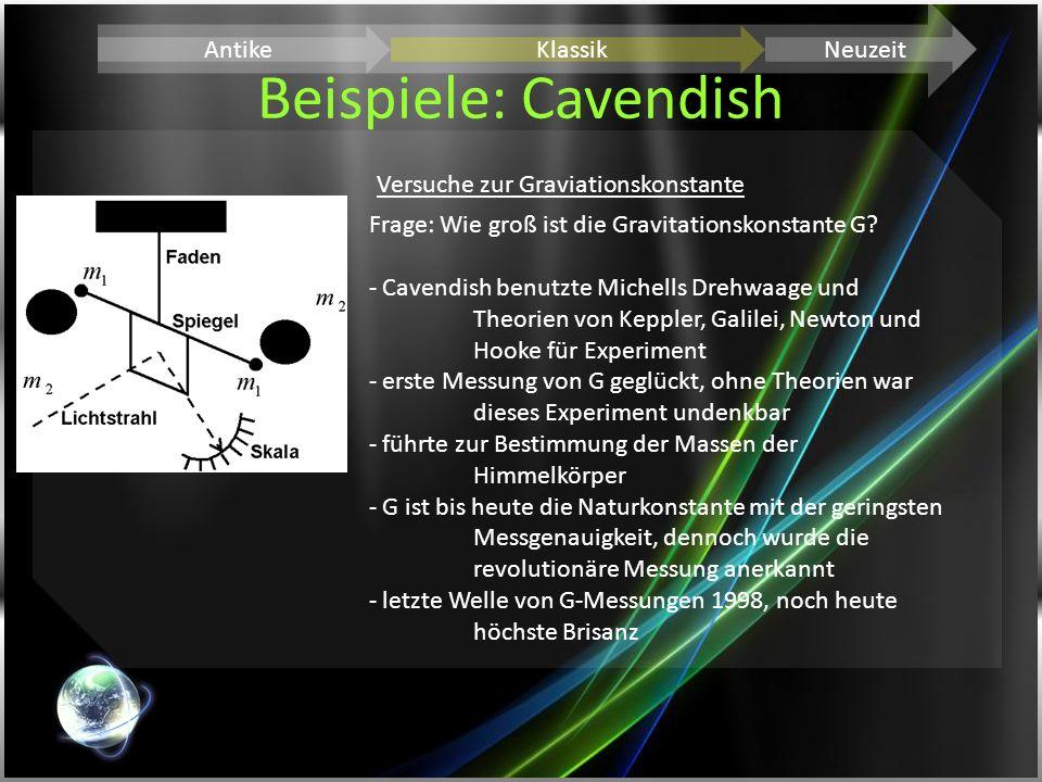 Beispiele: Cavendish Antike Klassik Neuzeit