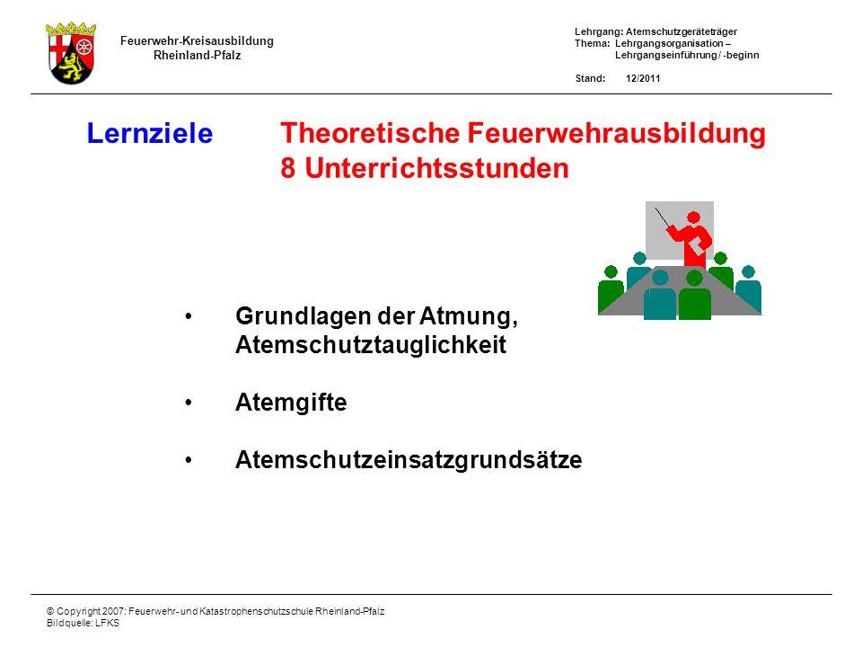 Theoretische Feuerwehrausbildung 8 Unterrichtsstunden