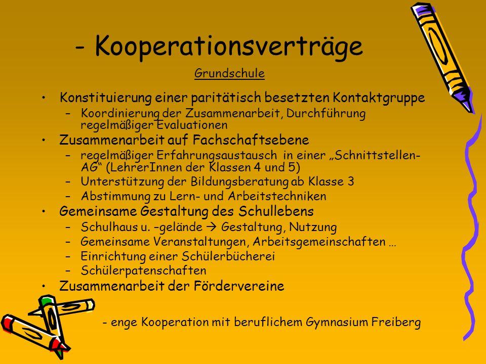 - Kooperationsverträge