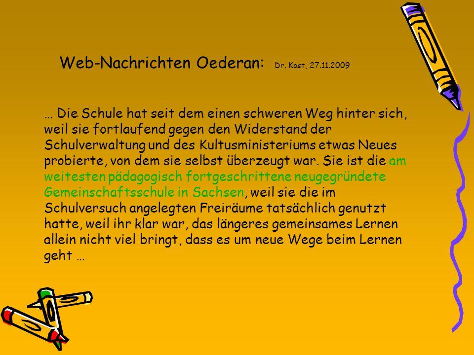 Web-Nachrichten Oederan: Dr. Kost, 27.11.2009