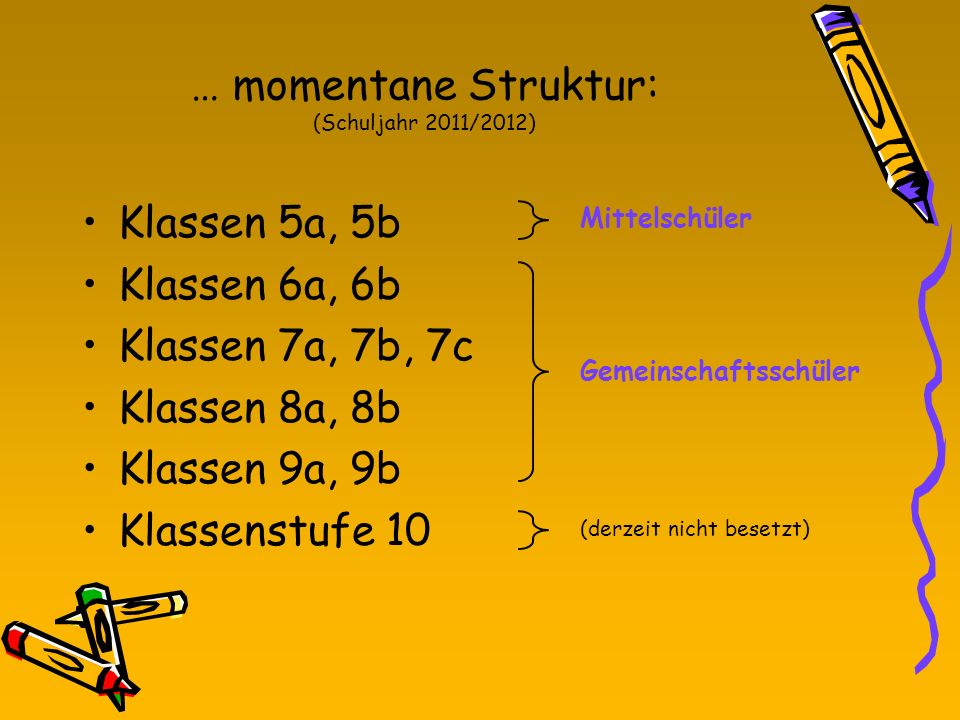 … momentane Struktur: (Schuljahr 2011/2012)