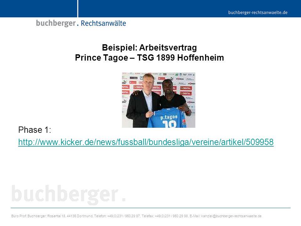 Beispiel: Arbeitsvertrag Prince Tagoe – TSG 1899 Hoffenheim