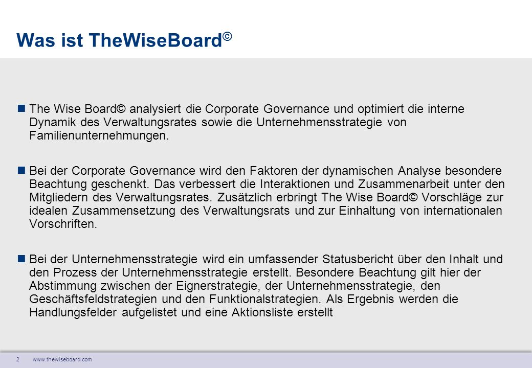 Was ist TheWiseBoard©